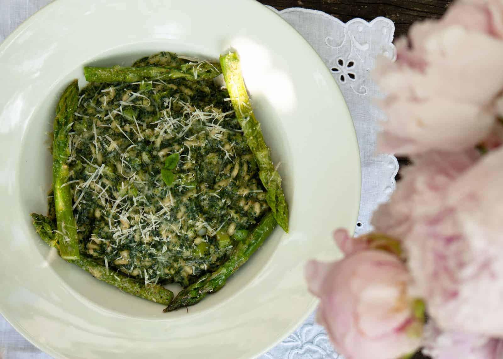 risotto asparagi e ortiche
