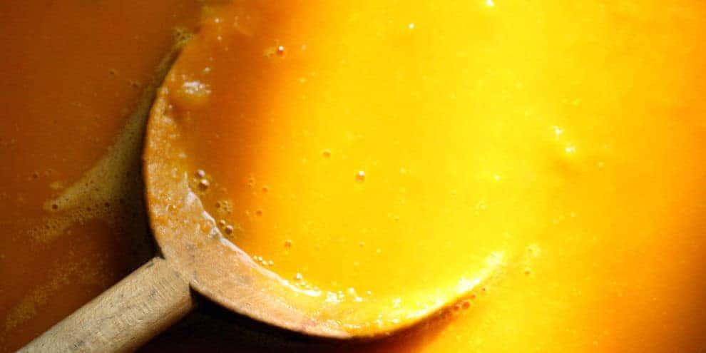 Vellutata di zucca con cocco zenzero e limone