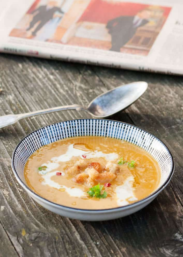 Maroni-Kürbis-Suppe