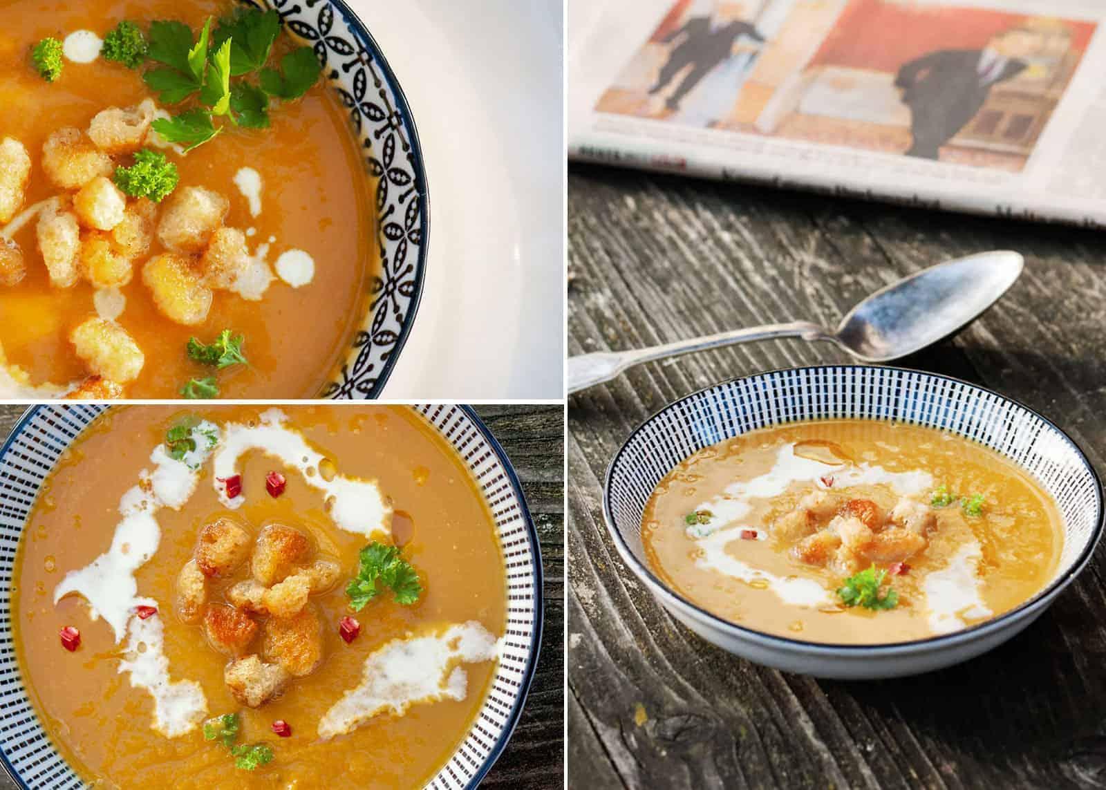 Maroni Kürbis Suppe
