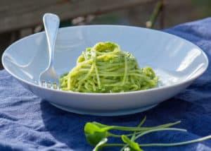 Gerichte - Spaghetti mit Winterportulak-Pesto