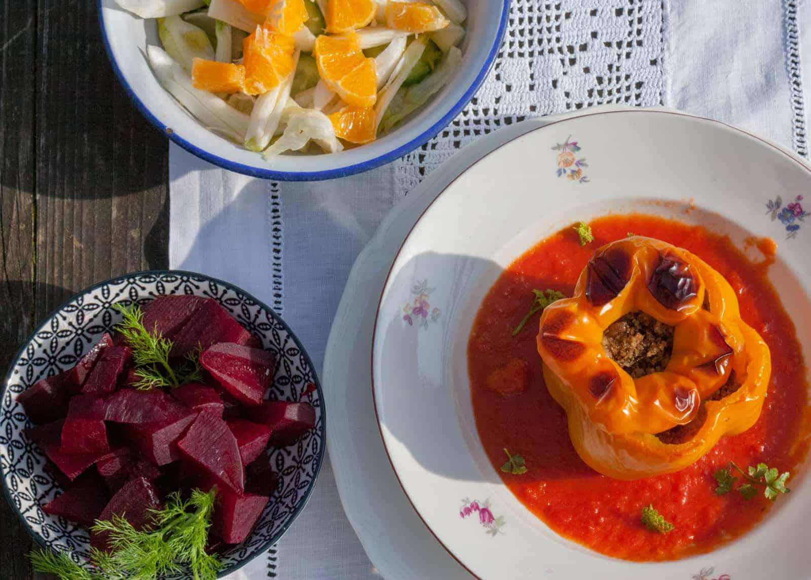 Peperoni ripieni alla napoletana