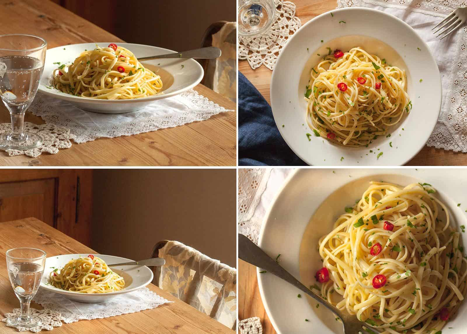 pasta dish - aglio olio peperoncino