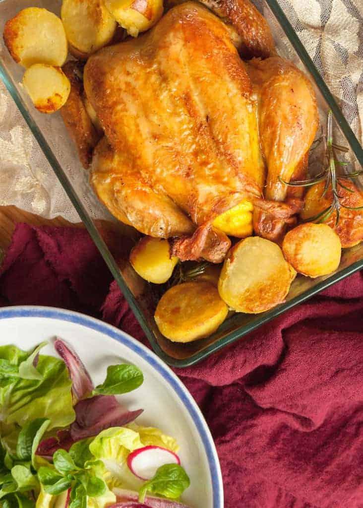 cucinare - Pollo arrosto ai limoni