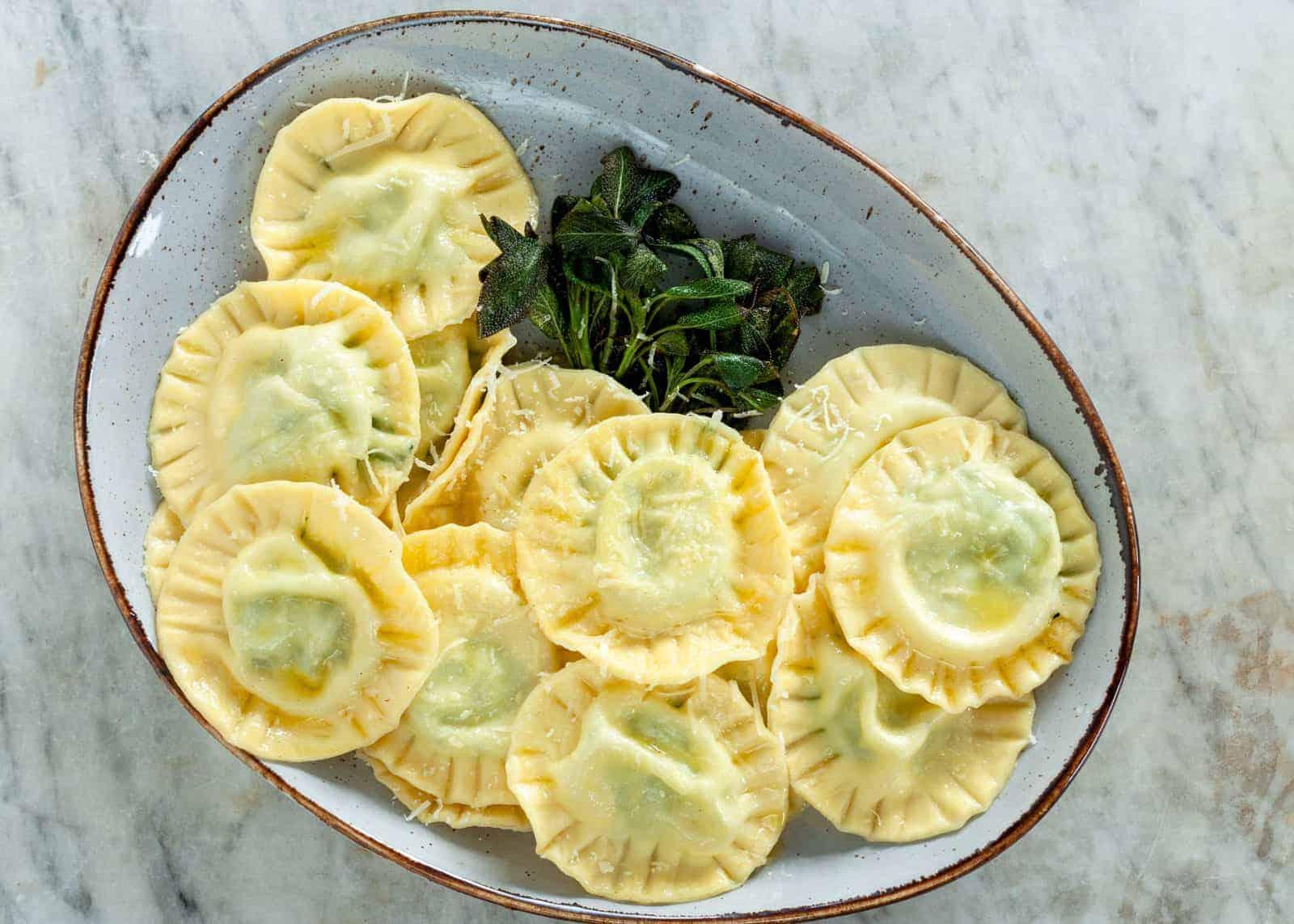 Spinat-Ricotta-Ravioli Rezept