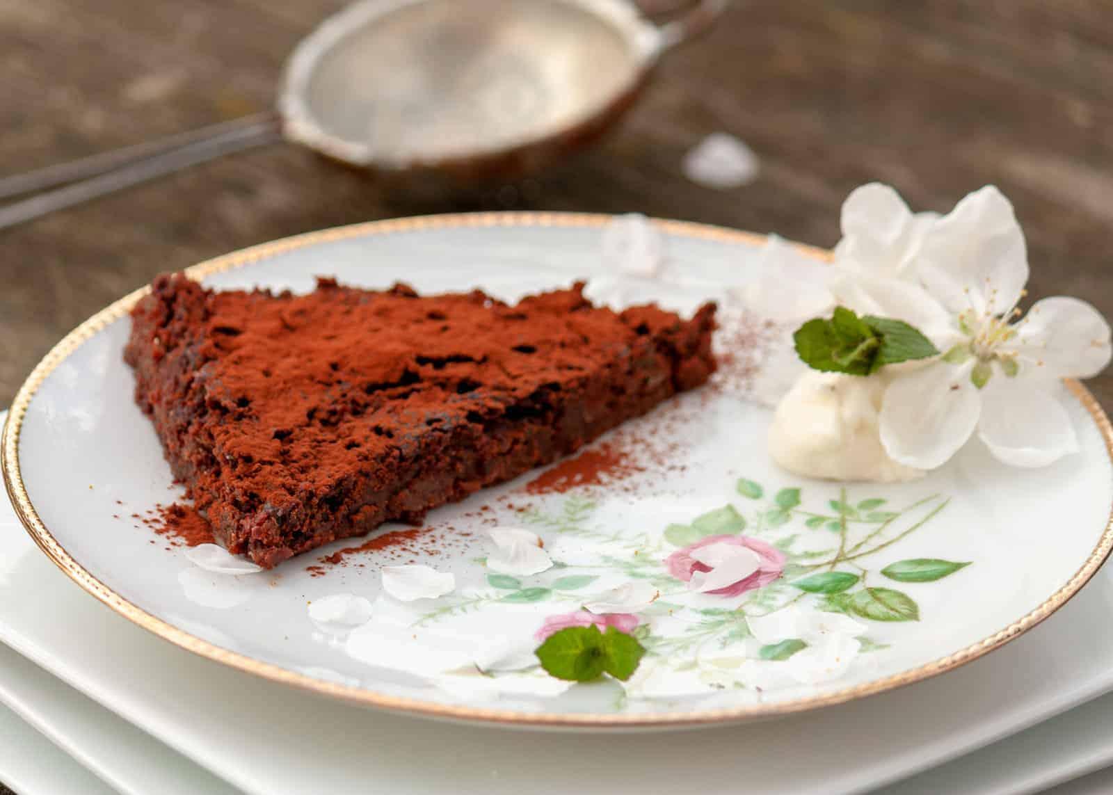 Zartschmelzende Schokolade - Kuchen -Rezept