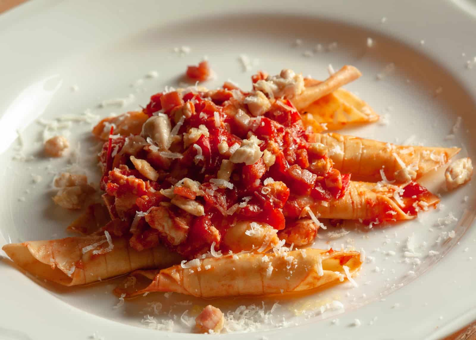 garganelli with chicken breast ragout- recipe