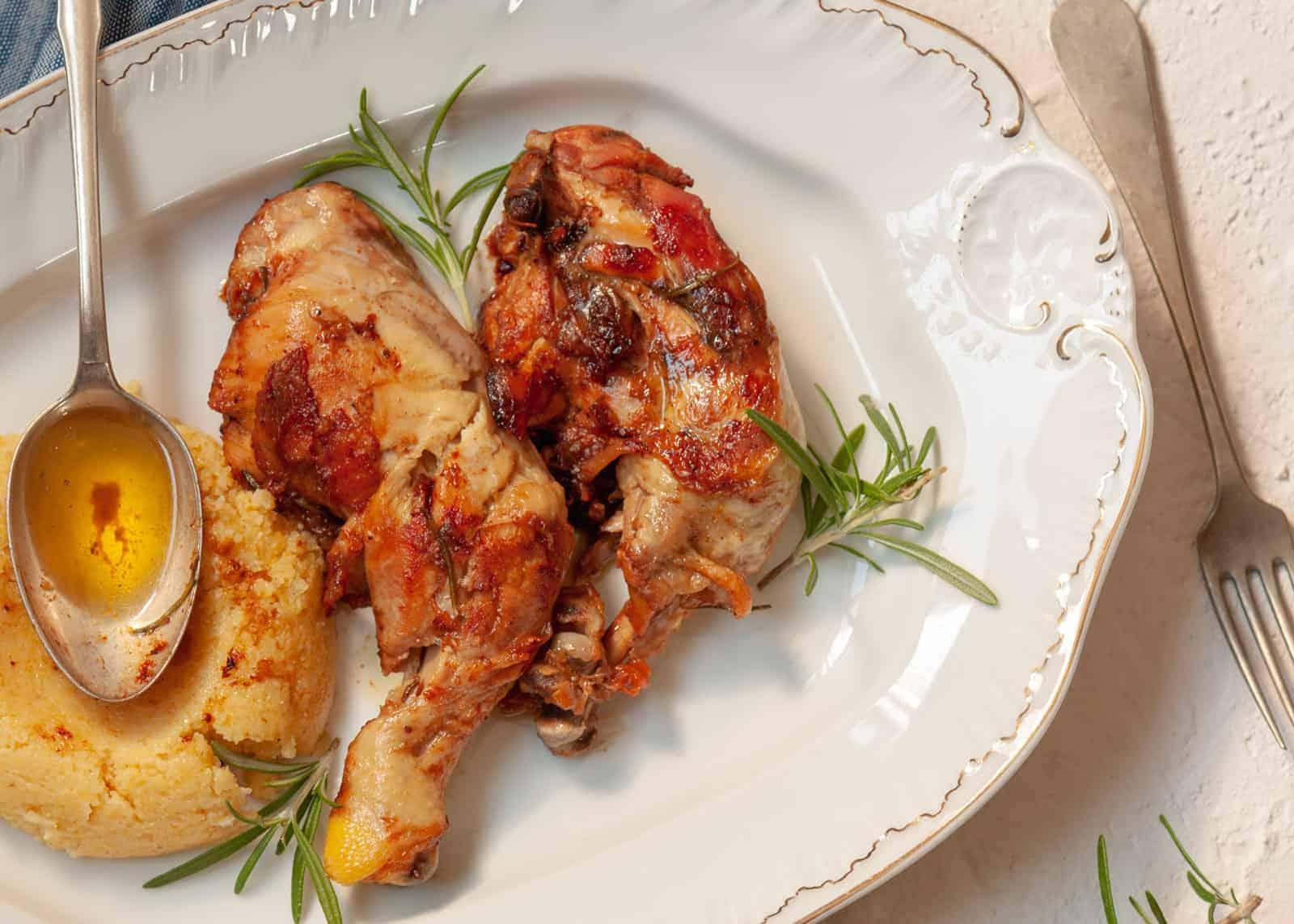 Hühner Schmorbraten pollo arrosto in padella ricetta