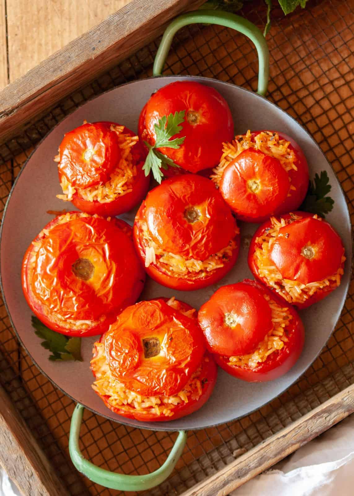Gefüllte Tomaten nach römischer Art