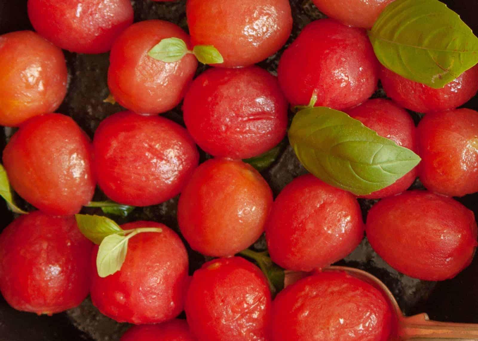 Kochen - Karamellisierte Tomaten