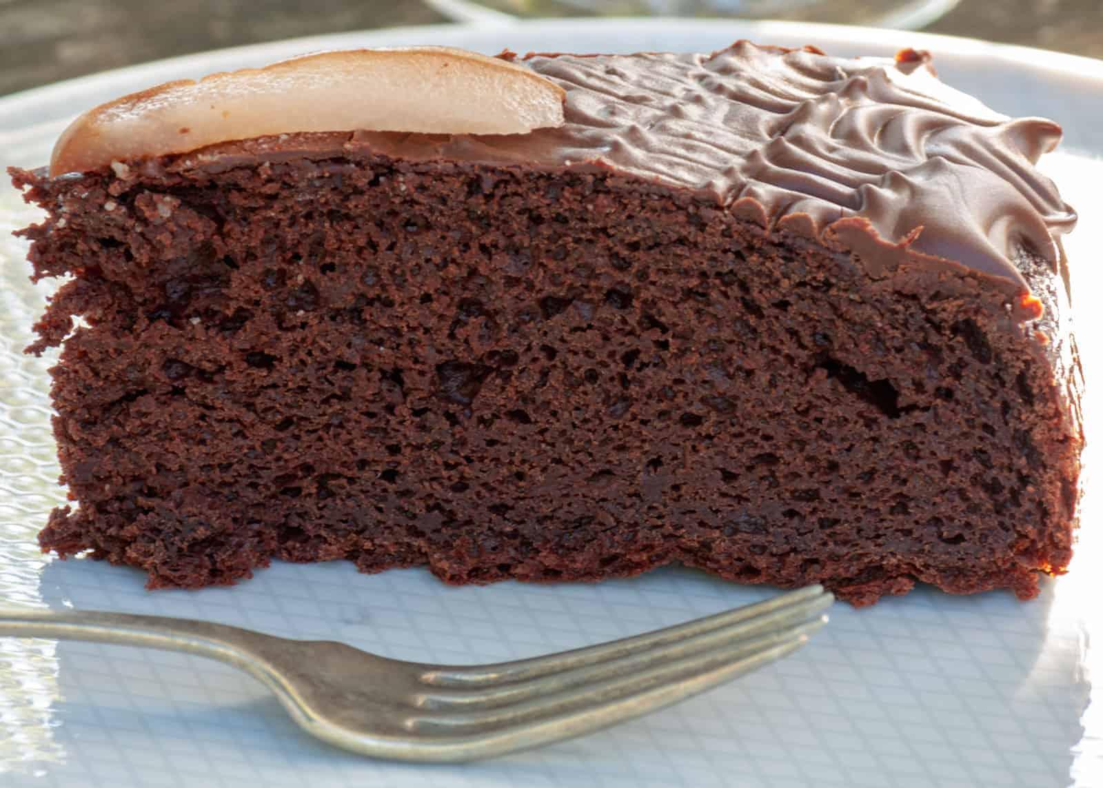 torta della nonna pere e cioccolata