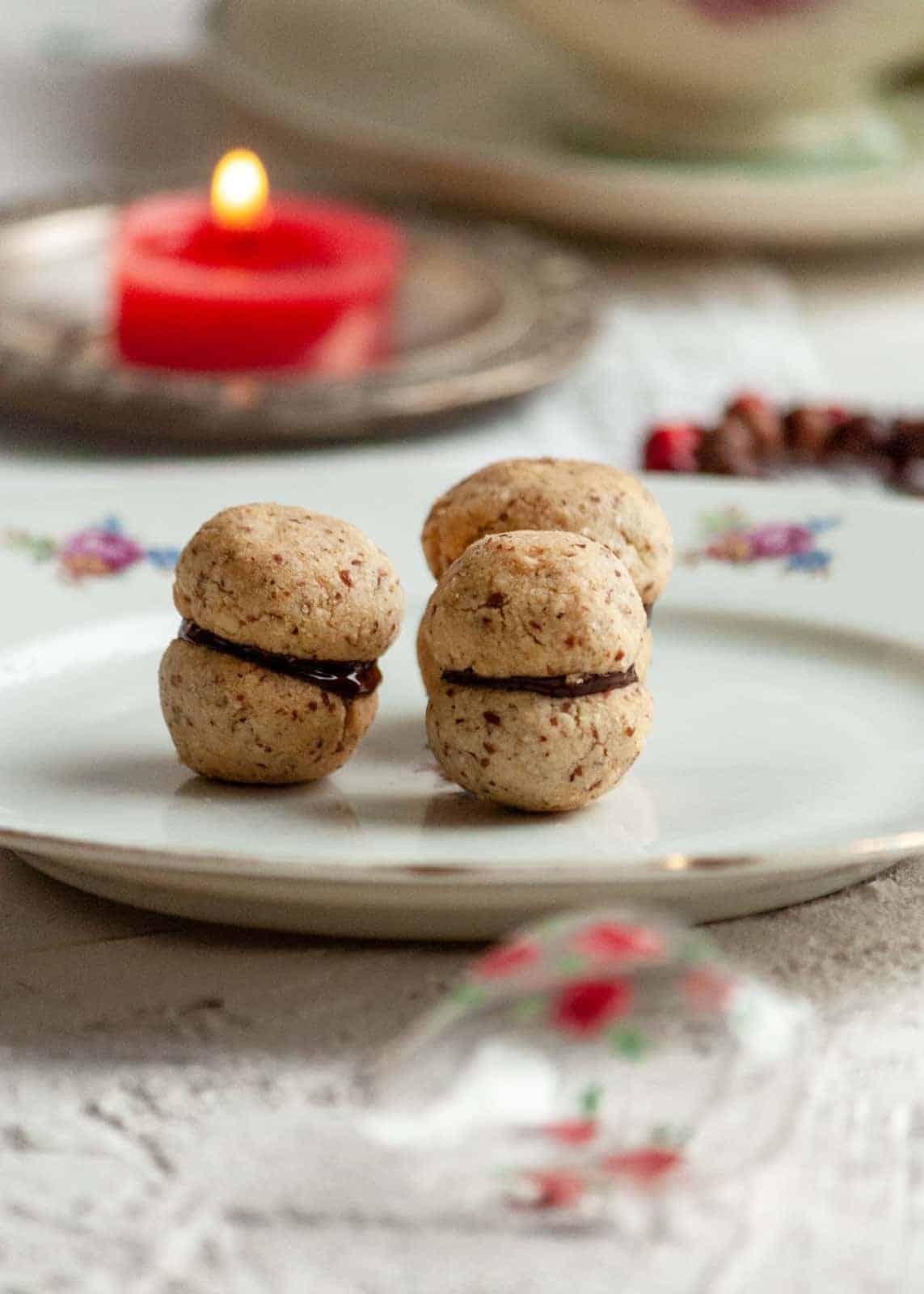 Baci di Dama Haselnuss Kekse