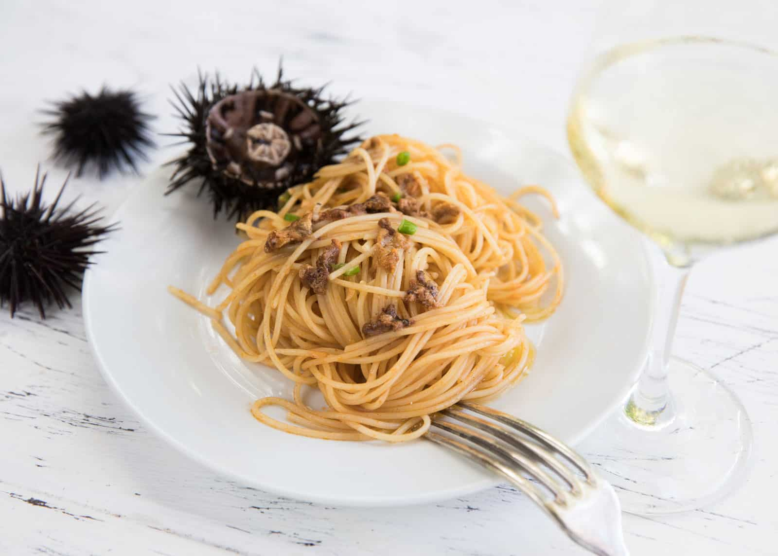Spaghetti mit Seeigeln