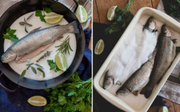 Salt-crusted trout - recipe