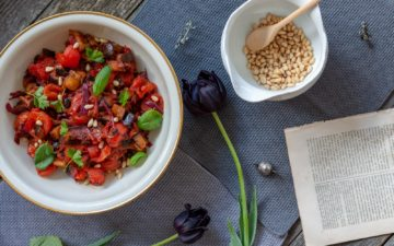 Caponata. Aubergine sweet-sour - recipe