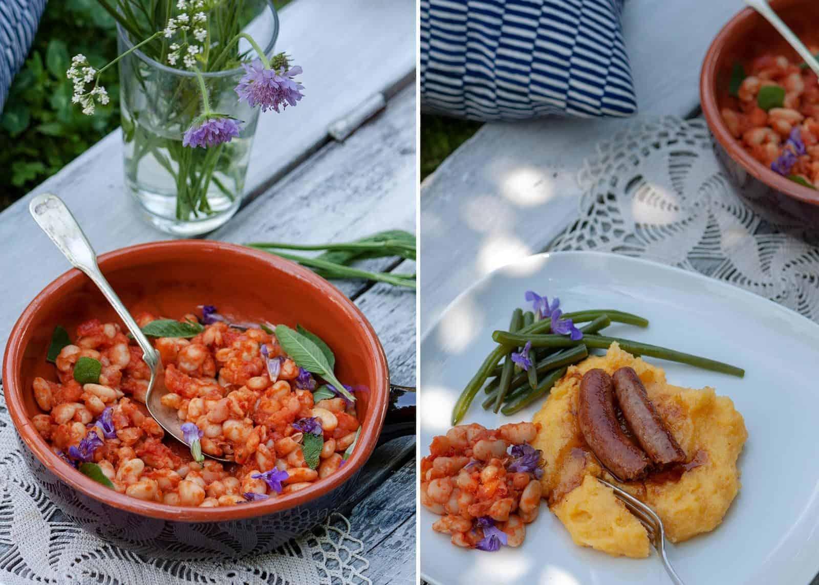 geschmorte Bohnen nach toskanischer Art