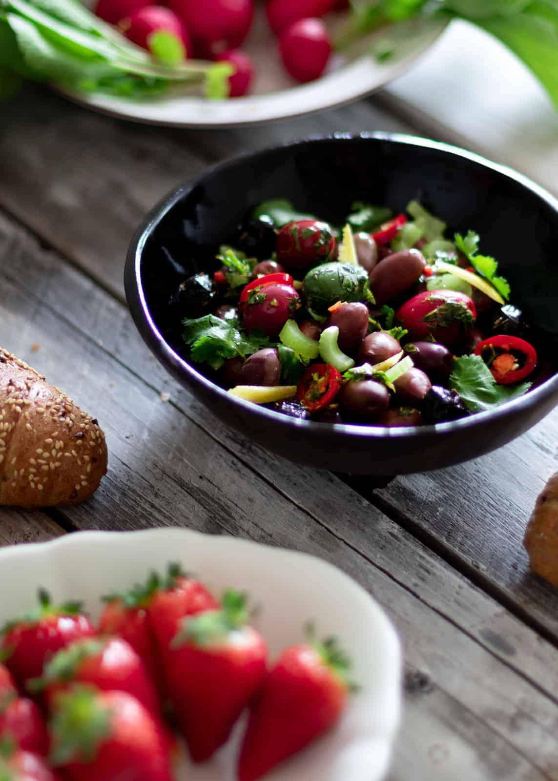 Marinated olives - recipe