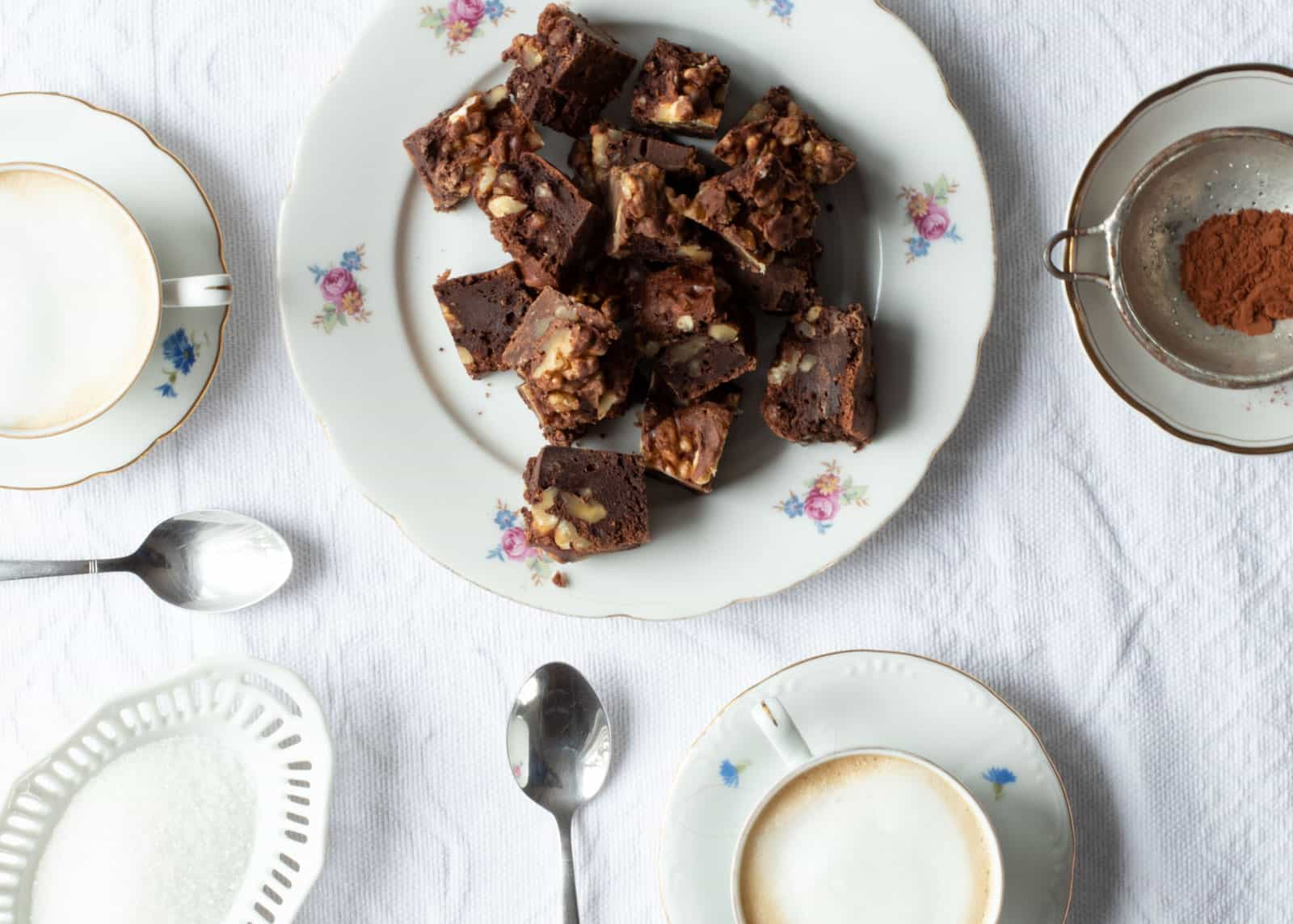 Torta al cioccolato noci e ricotta