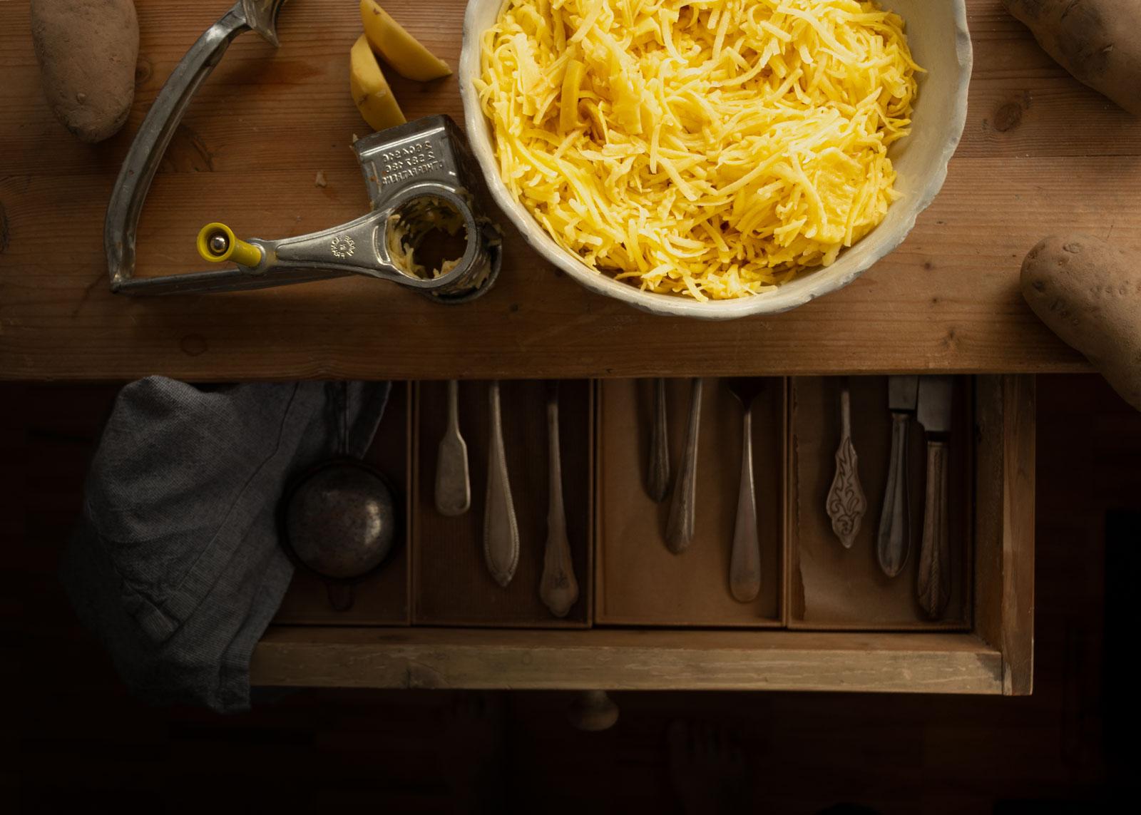 Kartoffelpuffer nach Trentiner Art