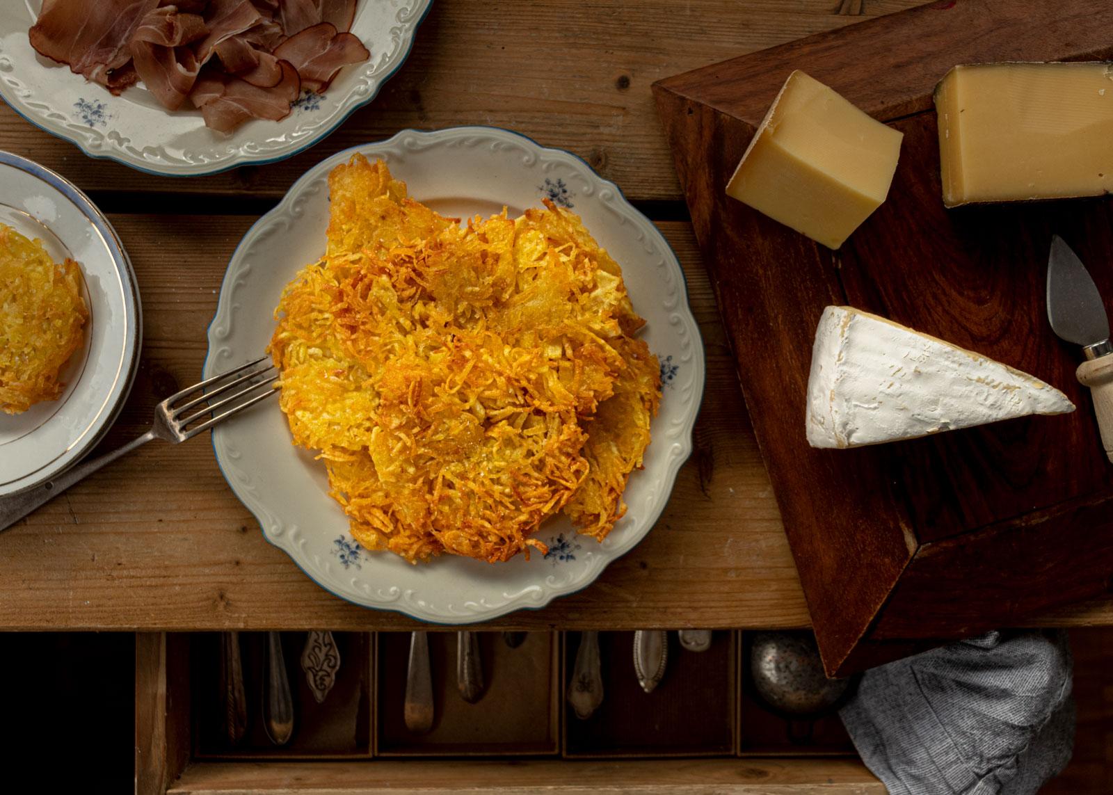 Kartoffelpuffer nach Trentiner Art - tortel di patate