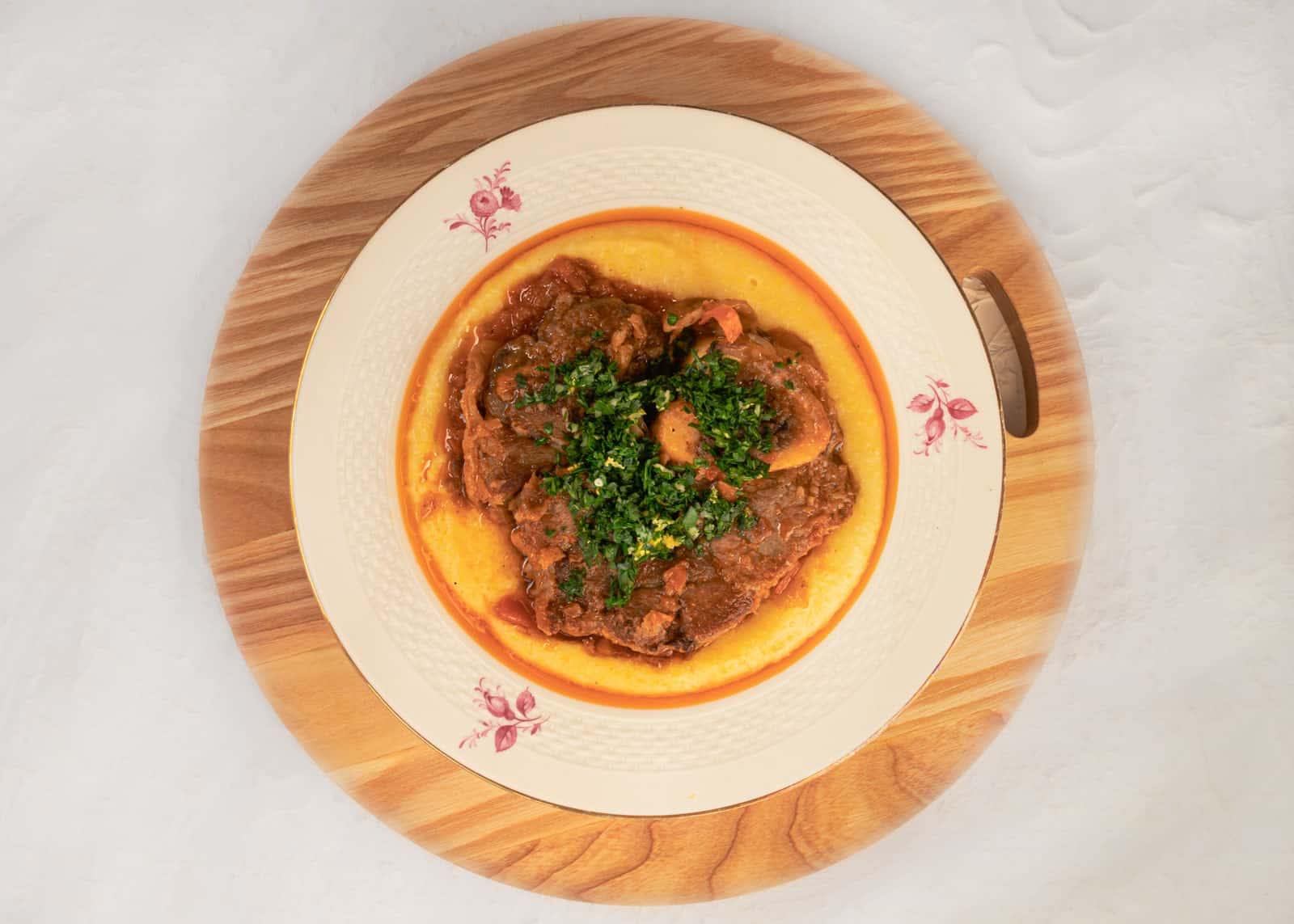 Braised veal -Ossobuco alla milanese