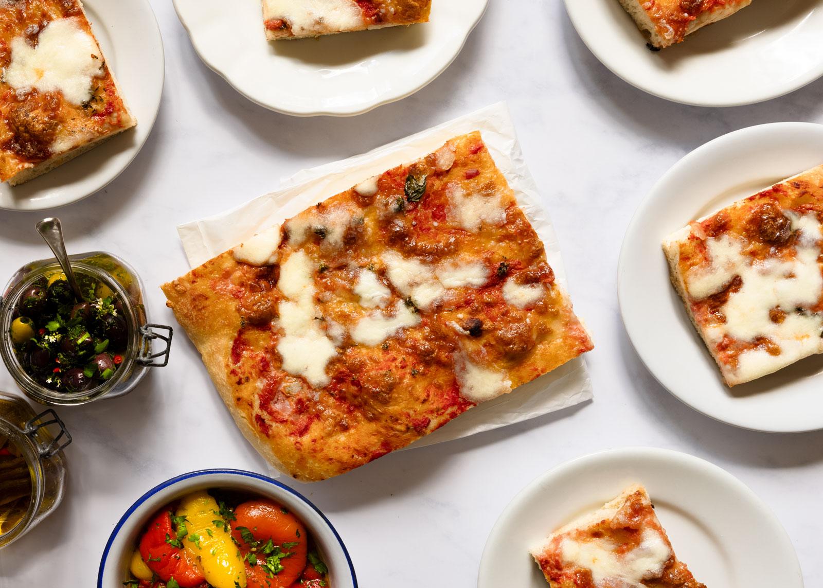 Pizza in teglia - Blechpizza